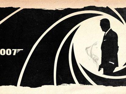 Silueta de James Bond.