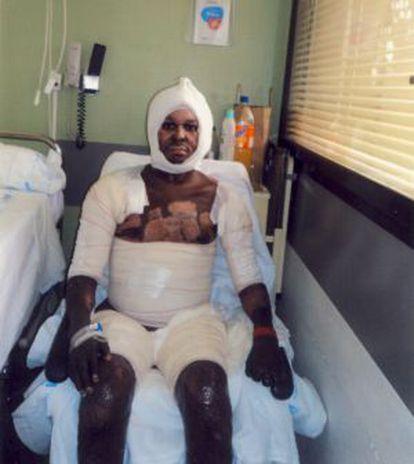 Patrick Hervé, en el Hospital de Getafe.