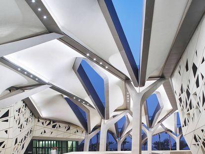 Centro Kapsarc diseñado por Zaha Hadid architects en Riad, Arabia Saudí