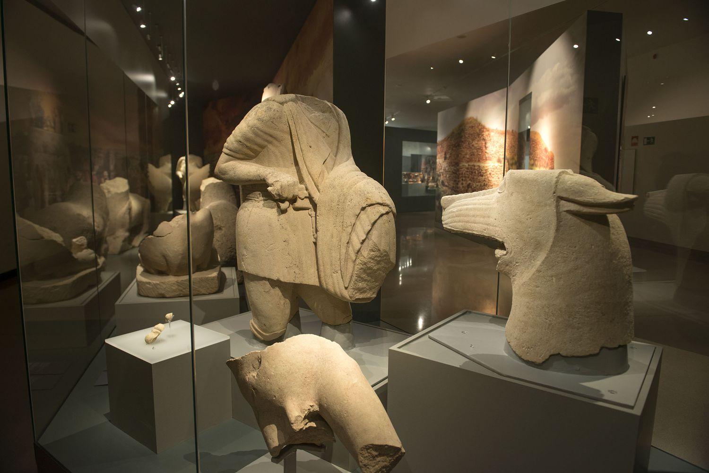 Conjunto escultórico expuesto en el Museo Ibero.