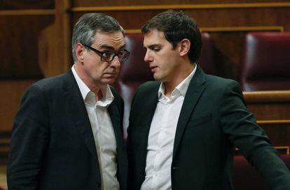 Jose Manuel Villegas y Albert Rivera, en una imagen de archivo.