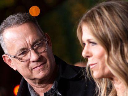 Tom Hanks y su esposa, Rita Wilson, en 2018.