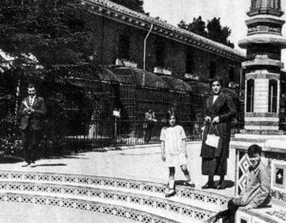 La casa de las fieras en 1925.