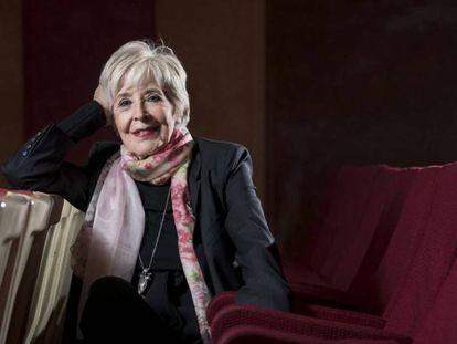 Concha Velasco, el pasado martes en el teatro La Latina de Madrid. En vídeo, declaraciones de la actriz.
