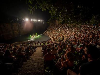 Stay Homas en su concierto en el Teatre Grec, en el festival de verano de Barcelona en 2020.