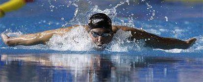 Phelps, durante la prueba