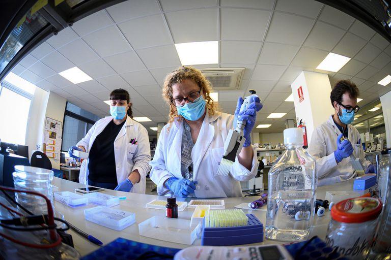 Un laboratorio donde se producen test para detectar covid-19 en Madrid.