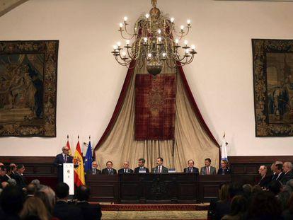 Acto de presentación del nuevo diccionario jurídico panhispánico en la Universidad de Salamanca.