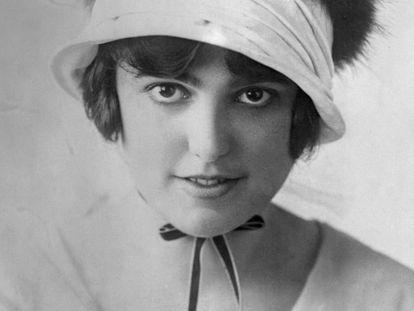 Retrato de Virginia Rappe, la actriz que falleció en una fiesta en 1921 y de cuya muerte se acusó sin pruebas a la estrella Fatty Arbuckle.