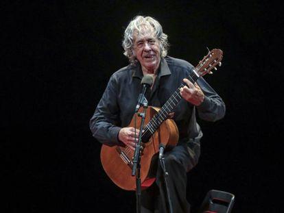 Paco Ibáñez, durante su concierto en Barcelona.