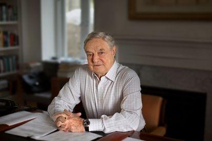 George Soros, durante la entrevista en su residencia de Southampton (Estado de Nueva York).