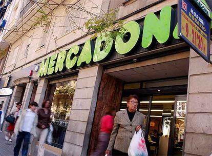 Un establecimiento de Mercadona en el centro de Valencia.
