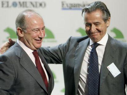 Los expresidentes de caja Madrid, Rodrigo Rato y Miguel Blesa, en 2008.