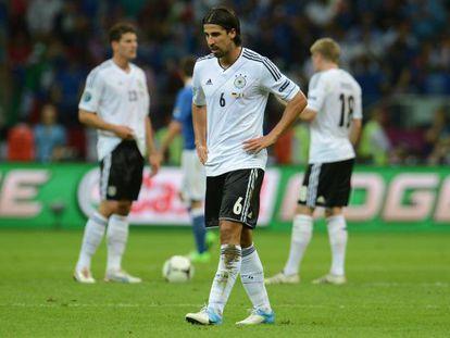 Khedira, durante la semifinal de la Eurocopa ante Italia