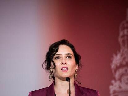 Isabel Díaz Ayuso, el 14 de junio.