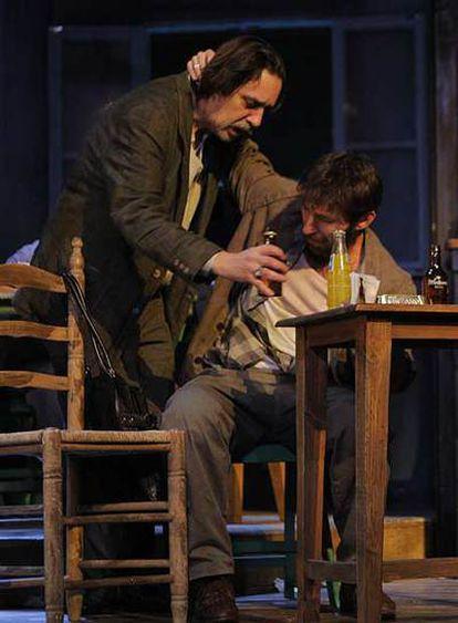 Ensayo de <i>La taberna fantástica</i> de Alfonso Sastre, en una producción del Centro Dramático Nacional en 2008 dirigida por Gerardo Malla.