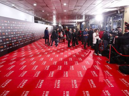 La alfombra roja, el sábado por la tarde, antes de que empezaran a pisarla los invitados a los Goya.