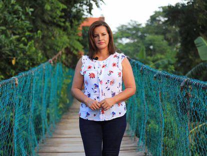 La alcaldesa de Jamapa, Florisel Ríos.