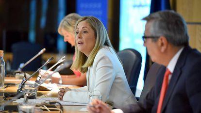 Emma Navarro, en una reunión del Banco Europeo de Inversiones.
