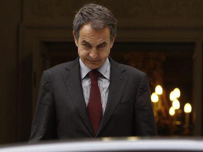 El presidente del Gobierno en funciones, José Luis Rodríguez Zapatero.