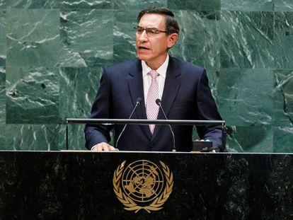 El presidente peruano, Martín Vizcarra, esta semana en la Asamblea General de la ONU en Nueva York.