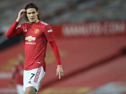Edinson Cavani, durante un partido del Manchester United el pasado mes de noviembre.