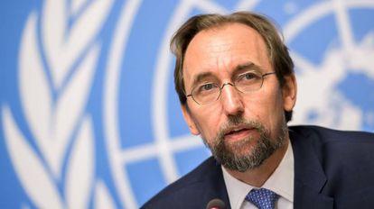 Zeid Ra'ad Al-Hussein, este miércoles en Ginebra.