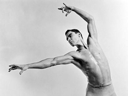 El bailarín Jacques D'Amboise, en 1961.