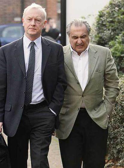 Hakimzadeh, derecha, a su llegada al tribunal.