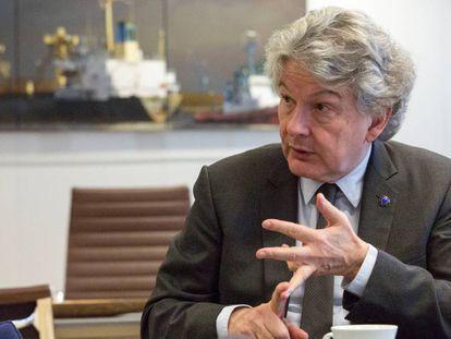 El comisario de Mercado Interior, Thierry Breton, durante la entrevista.