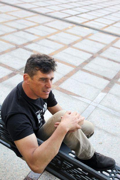Javier Ojeda, ayer cerca de su casa en Torremolinos (Málaga).
