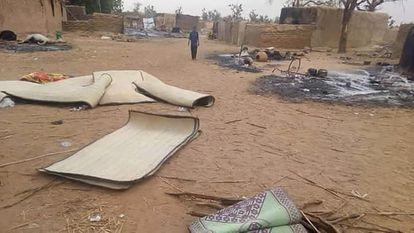 Imagen de la localidad de Chombangú, en la región nigerina de Tilláberi, este domingo.