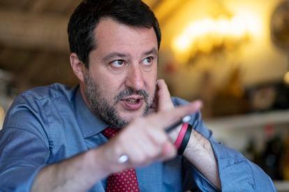Matteo Salvini, el miércoles en su despacho en Roma.