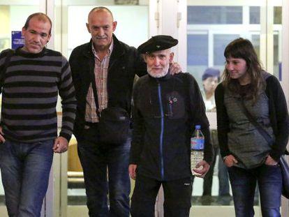 Josu Uribetxebarria, a la salida del Hospital Donostia el pasado 23 de octubre.