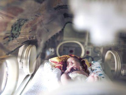 Un bebé prematuro.