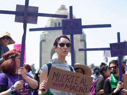 Protesta feminista el pasado 8 de marzo en la Ciudad de México.