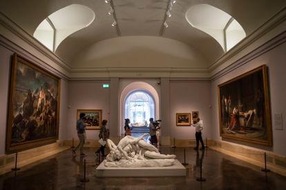 Una de las principales galerías está dedicada a la pintura histórica con piezas monumentales.