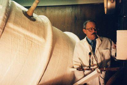 Robert Ettinger en el Instituto Criónico de Michigan.