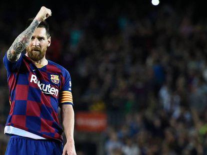 Messi, tras marcar al Sevilla. En vídeo, las declaraciones de Messi en RAC1.