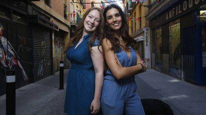 Zua Méndez y Teresa Lozano en Lavapiés, Madrid.