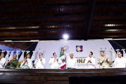 López Obrador, durante la Conferencia Nacional de Gobernadores, en julio.