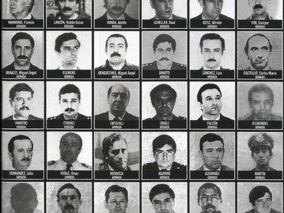 Fotografías de represores de la dictadura argentina realizadas por Victor Basterra en la ESMA.
