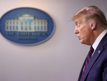 El presidente de Estados Unidos, Donald Trump, este martes en la Casa Blanca en Washington.