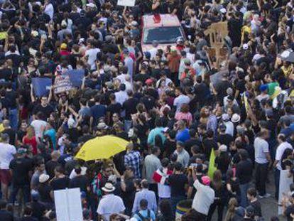 Manifestación en Santo Domingo.