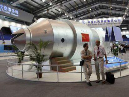 El laboratorio orbital chino Tiangong-1 reentrará en la atmósfera terrestre el 1 de abril con riesgos asociados  muy pequeños , según el CDTI