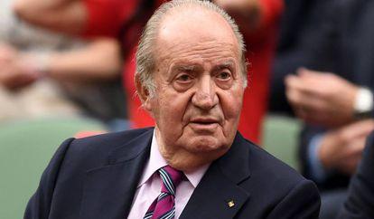 Don Juan Carlos de Borbón en Wimbledon, Londres, el pasado julio.