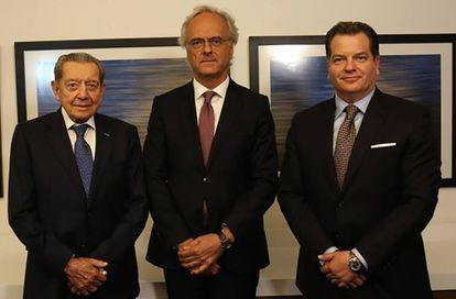 Miguel Alemán Velasco, Pedro García Guillén y Miguel Alemán Magnani