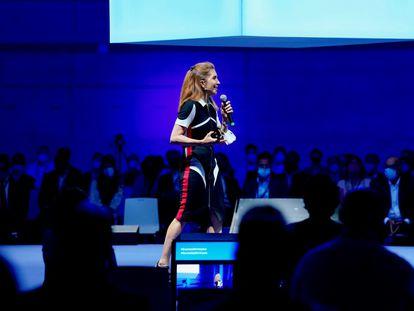 La ingeniera alicantina Nuria Oliver en la presentación de la Fundación Lab Mediterráneo.