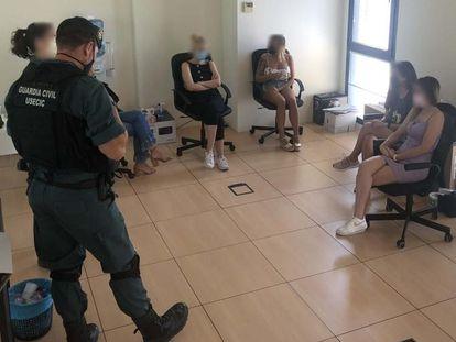 La banda detenida en La Rioja.