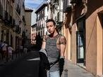 Hamza Merchich, marroquí solicitante de asilo por su orientación sexual, en Madrid en julio de 2021.